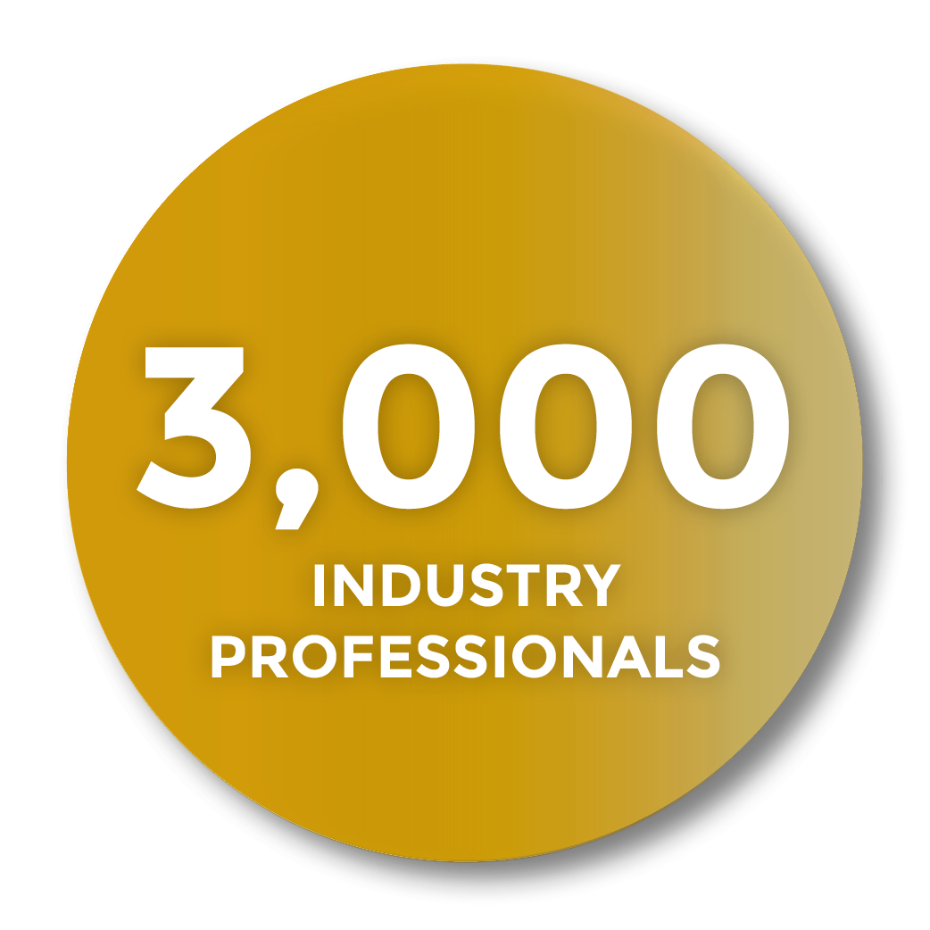 3000 Industry Professionals